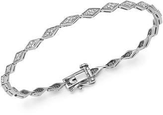 Adina Sterling Silver Pavé Diamond Tennis Bracelet