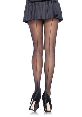 Leg Avenue Womens Plus Size Sheer Cuban Heel Backseam Pantyhose