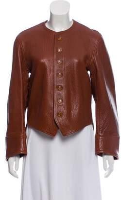 Joseph Leather Paneled Jacket w/ Tags
