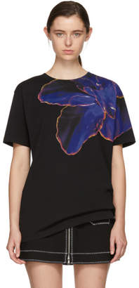 Marcelo Burlon County of Milan Black Flower T-Shirt