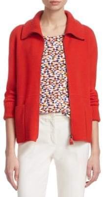 Akris Cashmere Knit Zip Jacket