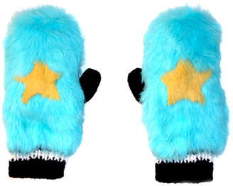 C/Fan Twinkle Fur Mittens
