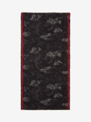 Alexander McQueen Camouflage Rose Shawl