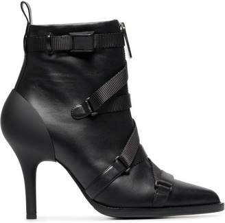 Chloé 90 Strappy Leather Ankle Boots