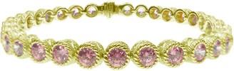 "Judith Ripka Sterling & 14K Clad Pink Diamonique 8"" Bracelet"
