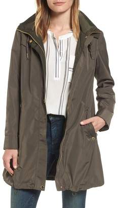 Via Spiga Hooded Packable Utility Coat