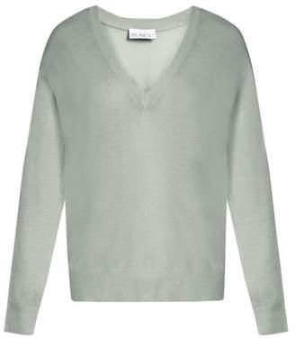 Raey V Neck Fine Knit Cashmere Sweater - Womens - Mint
