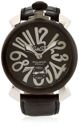 GaGa MILANO Manual Pvd Watch With Carbon Fiber Dial