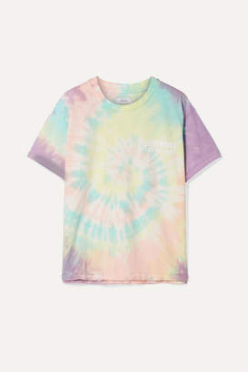 Sprwmn Oversized Printed Tie-dyed Cotton-jersey T-shirt