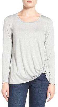 Women's Gibson Knotted Long Sleeve Tee $39 thestylecure.com