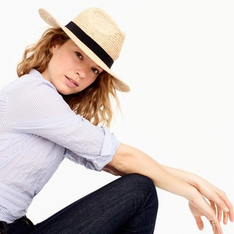 Wide-brim packable straw hat $55 thestylecure.com