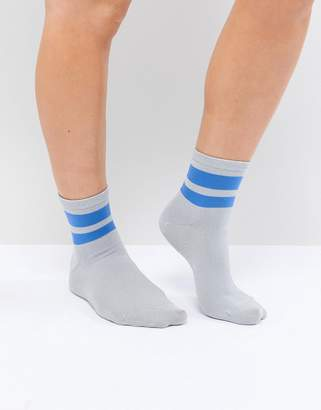 Pieces Ankle Sock With Varisty Trim
