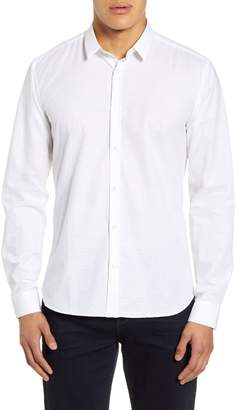 Jared Lang Slim Fit White Button-Up Shirt