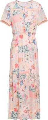 Claudie Pierlot Floral-print Georgette Maxi Dress