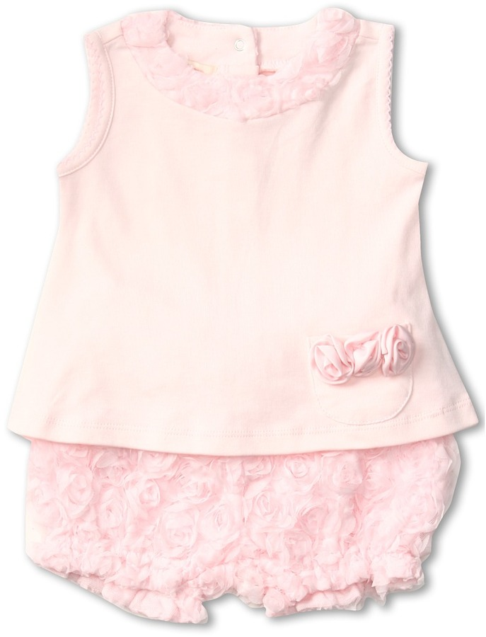 Biscotti Precious Rose Top and Bloomer Set (Newborn/Infant) (Pink) - Apparel