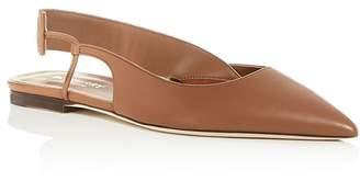 Burberry Women's Maria Slingback Pointed-Toe Flats