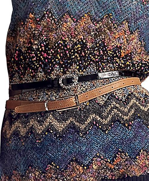 Peter Som Vintage Double Belt, Brown