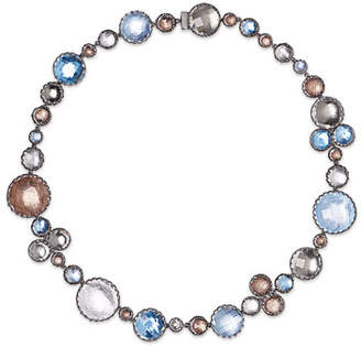 Larkspur & Hawk Sadie Bubble Riviere Necklace in Multi-Riverstone Foil