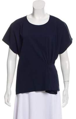 Maison Margiela Short Sleeve Scoop Neck Top