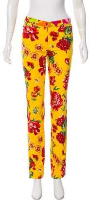 Dolce & Gabbana Mid-Rise Floral Print Pants