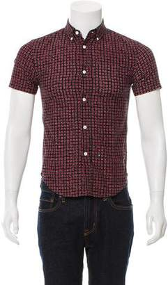 Band Of Outsiders Printed Short Sleeve Shirt
