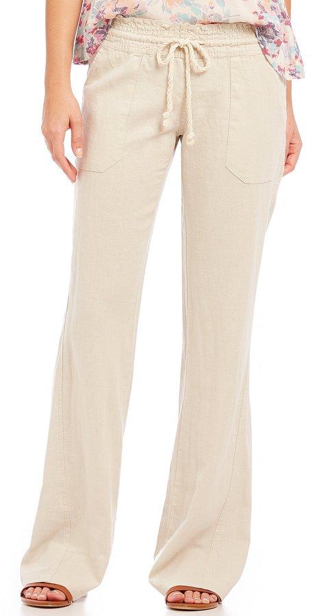 Roxy Oceanside Linen-Blend Pants