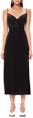 AFRM Bruna Lace Detail Midi Dress