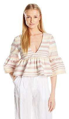Mara Hoffman Women's Stripe Ruff Top