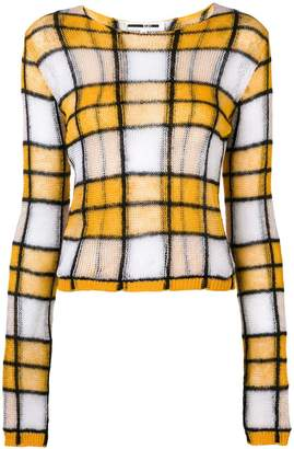 McQ checked knit jumper