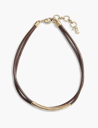 Lucky Brand BROWN LEATHER CHOKER