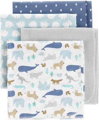 Carter's Baby 4-pack Animal Flannel Receiving Blankets