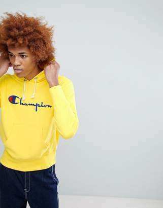Champion Hoodie With Large Logo In Yellow