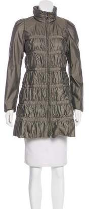 Armani Collezioni Zip-Up Knee-Length Coat