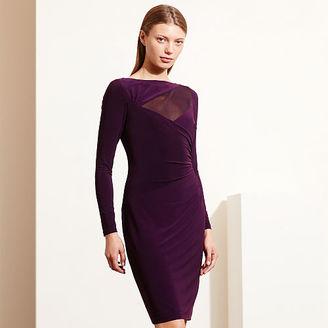 Ralph Lauren Mesh-Yoke Jersey Dress $144 thestylecure.com