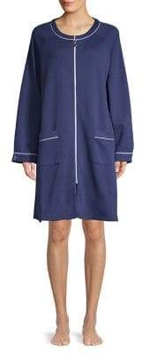 Eileen West Raglan Zip Short Robe