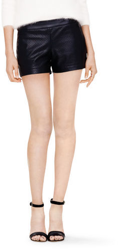 Club Monaco Iva Faux Leather Short