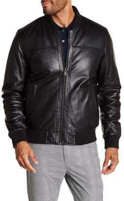 Cole Haan Reversible Leather Bomber Jacket