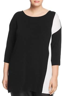 Eileen Fisher Plus Color Block Sweater
