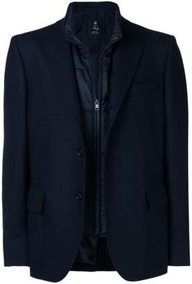Fay layered padded blazer