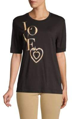 Love Moschino Graphic Short-Sleeve Tee