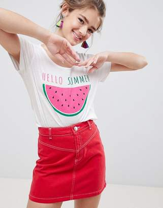 Blend She Paulina Watermelon Print T-Shirt