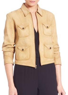 Polo Ralph Lauren Leather Full-Zip Jacket $1,498 thestylecure.com