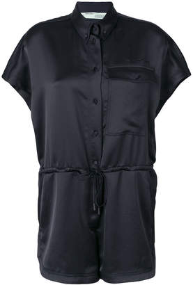 Off-White buttoned playsuit