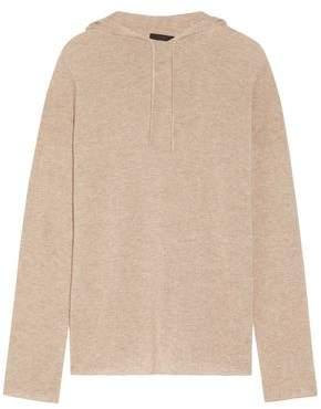 The Row Dina Melange Wool And Cashmere-blend Hooded Top