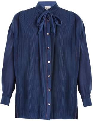 Thierry Colson Jours De Venise tie-neck blouse