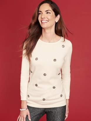 Talbots Diamante Sparkle Sweater