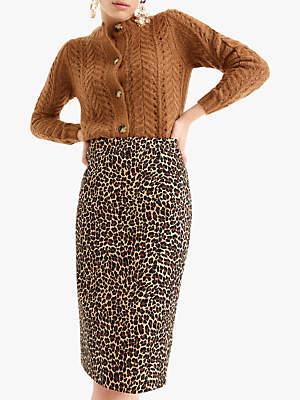 J.Crew Leslie Skirt, Pepper Leopard