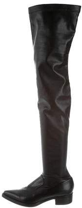 Stella McCartney Pointed-Toe Over-The-Knee Boots