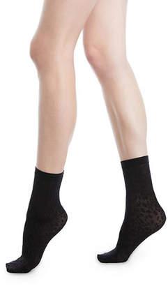 Wolford Avril Leopard Net Socks