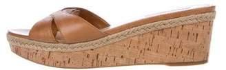 Prada Sport Leather Slide Sandals